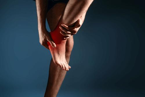 Heel pain area