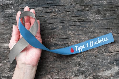 Type 1 diabetes ribbon