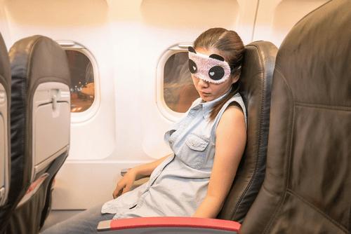 Jet lagged passenger