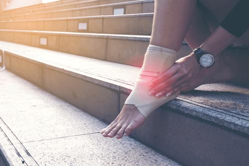 Ankle sprain athlete