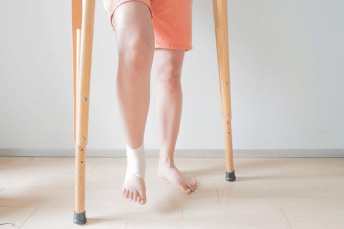 Ankle sprain crutches