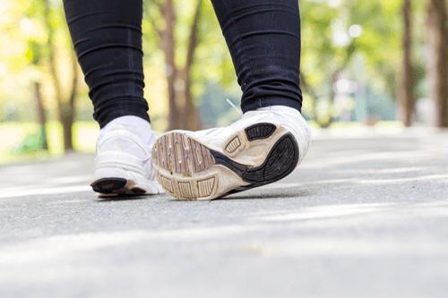 Ankle sprain jogging