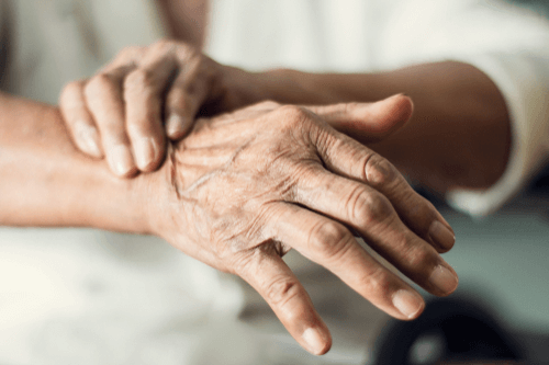 Parkinson's disease hands