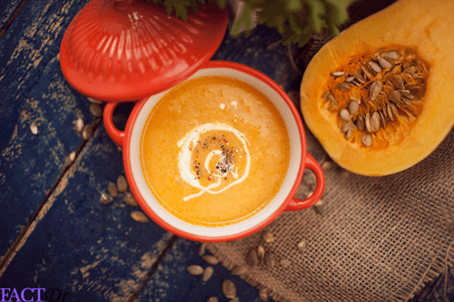 Chicken fajita butternut squash soup