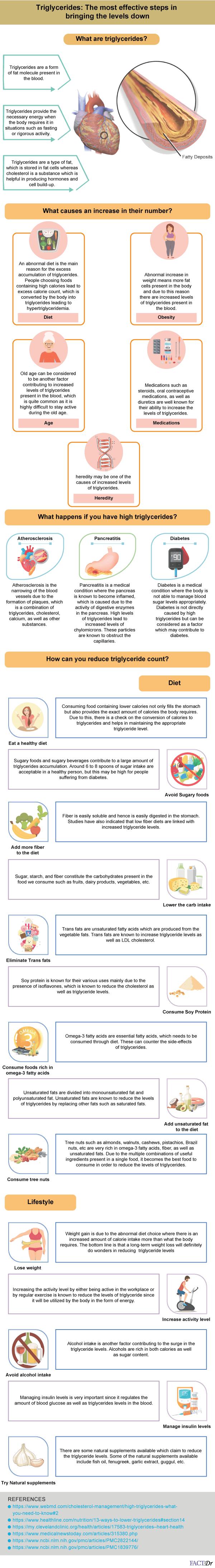 triglycerides infographic